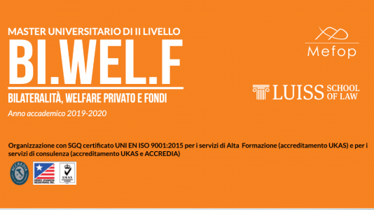 Master LUISS-Mefop bi.wel.f - Generare valore per il welfare image